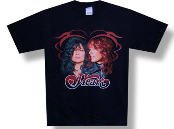 T-shirt nera Tour-Small 2009 Heart-Profile-Human
