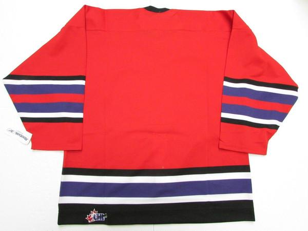 Custom custom CHL TOP PROSPECTS JUEGO PRO RED HOCKEY JERSEY punto añadir cualquier número cualquier nombre Mens Hockey Jersey XS-5XL