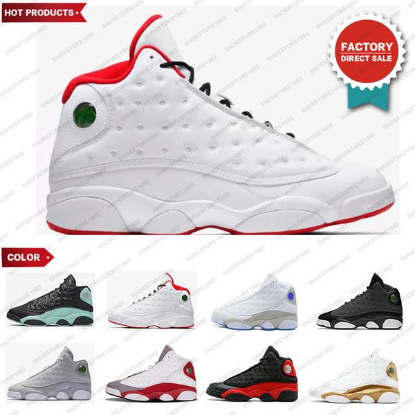 2020 nouvelle 13 13s chaussures de basket-ball Atmosphere gris He Got jeu élevé barons Hologram blé d'olive chaussures de marque de luxe mens de silex