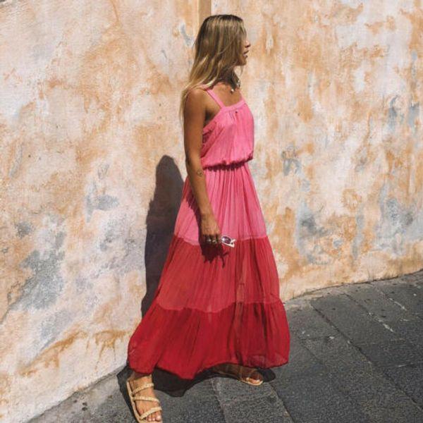 Yaz Bayan Boho Maxi Elbise Bayan Akşam Kokteyl Parti Plaj Elbise Sundress