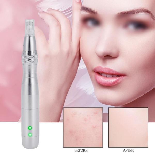 Anti-aging 7 LED Color Light Photon Electric Derma Pen With Nano Micro Needle Face Care Tool