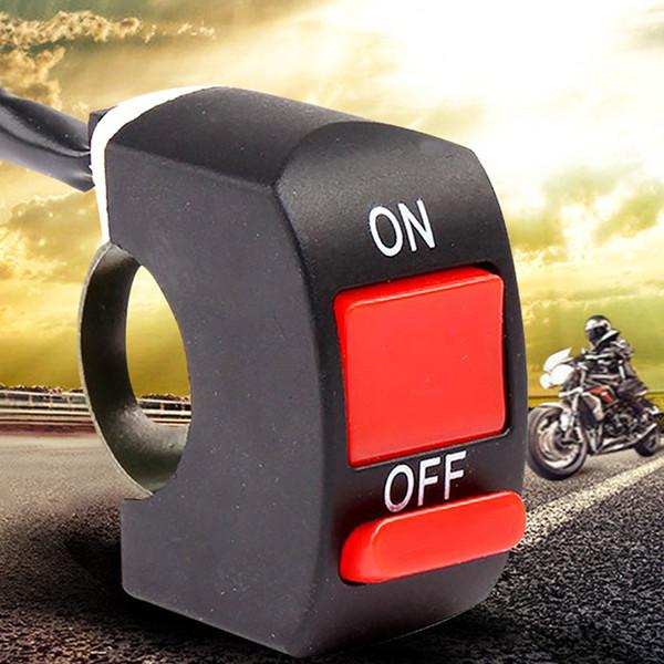 Motorrad Motorrad Lenker Scheinwerfer Nebelscheinwerfer Ein Aus Schalter DC12V Schwarz + Rot Warnlicht Scheinwerferschalter