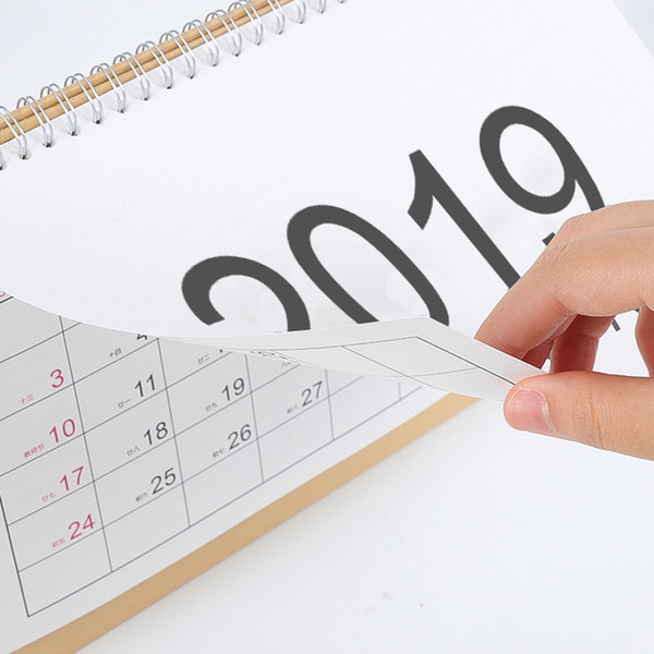 top popular 2019 Writable Weekly Planner Monthly List Plan Daily Calendar Desktop Creative Office White Stand Simple 18.5*21cm Calendar 0645-1 2020