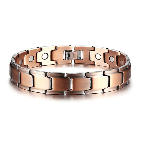 Casual Men Bracelet Magnetic Therapy Bangle Copper Energy Power Male Jewelry