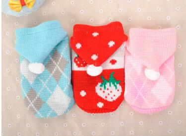 Christmas Dog Apparel Dog Hoodie Sweater Winter Warm Pet Small Dog Coat New Style Puppy Teddy Xmas Costumes