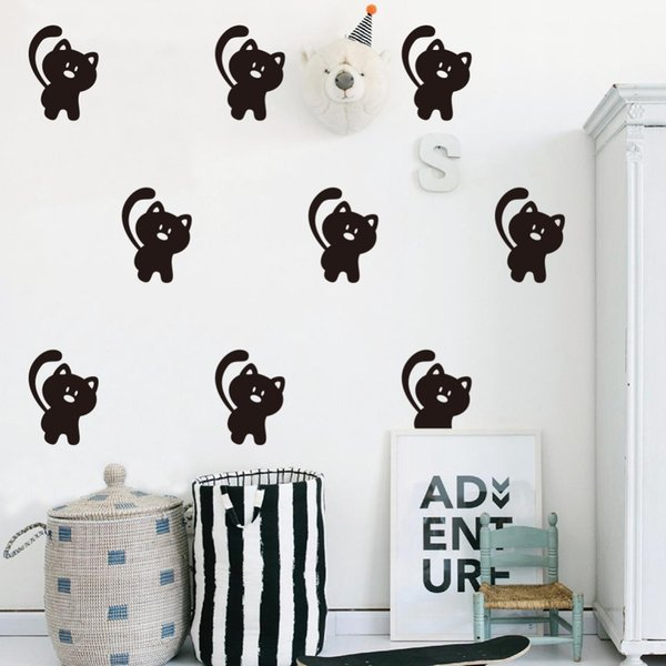 16pcs/set Cartoon Cute Bear Shape Wall Stickers For Kids Baby Rooms Bedroom Poster Child Gifts Home Decoration Vinyl Wall Decals