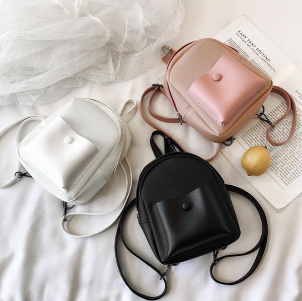 Çocuk çanta kız şeker renk jöle sırt çantası çocuklar çift omuz prenses çanta 2019 moda çocuk okul çantası kadın mini çanta F8409