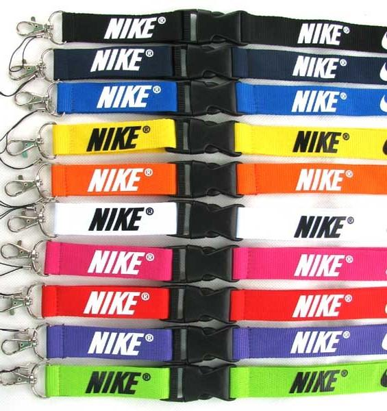 b0807ddd2 New Free shipping 10pcs sport Clothes logo Lanyard ID Badge Keychain Holder  chain iPod Camera Neck