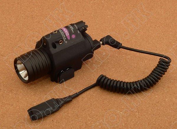 Projecteur tactique M6 avec viseur laser rouge trois modèles avec monture picatinny rail qd 20 mm, noir M6436