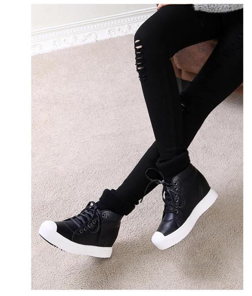 Heißer Verkauf-Herbst Winter warme Schneeschuhe Winter Baumwolle dicke kurze Stiefel runde Zehen schnüren sich oben Mischfarbe beiläufige Stiefel Winter Lederschuhe