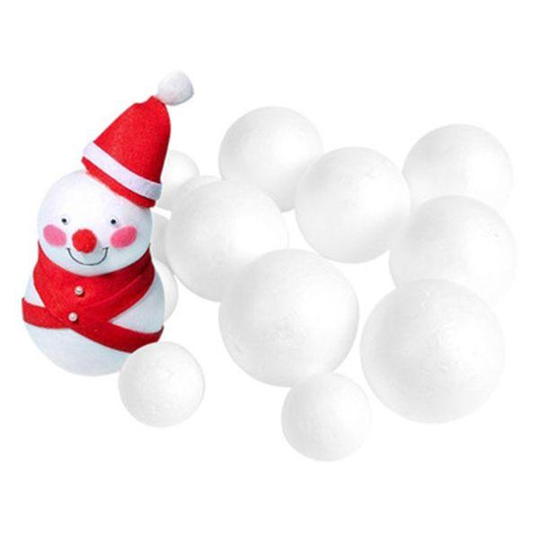 5pcs mix size White Modelling Craft Polystyrene Foam Balls Styrofoam Ornaments DIY Kids Craft Handmade Bouquet Christmas decor