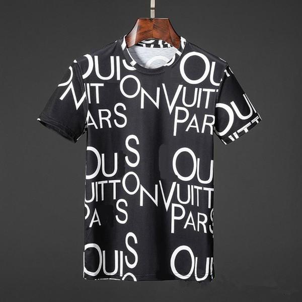 2019 Fashion Men Women Summer Tees Short Sleeve Black and white Letter 3d print T-shirt 3D Designer Clothing Short Sleeve Casual Tops U1697