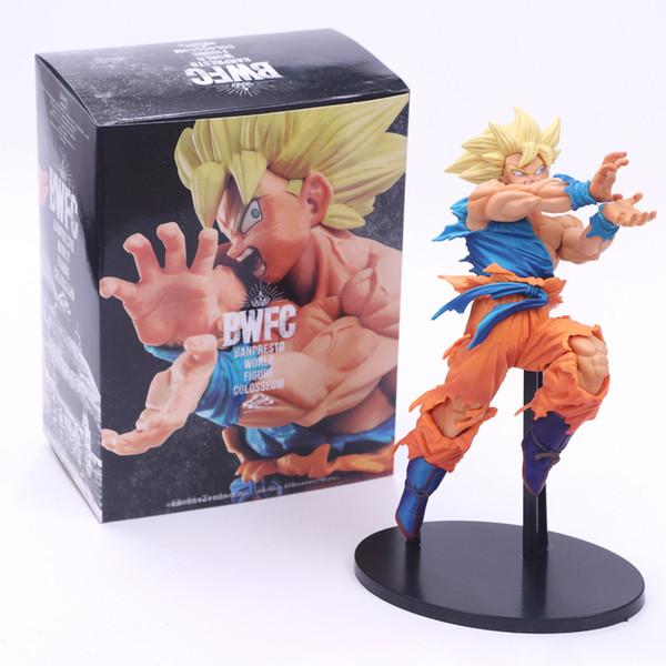 Dragon Ball Z Şekil Super Saiyan Son Goku BWFC PVC Şekil Oyuncak Koleksiyon DBZ Modeli heykelcik oyuncaklar