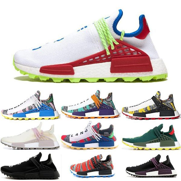human race pharrell williams running shoes creme nerd solar pack afro hu equality mens women trainer sports sneakers size 36-45