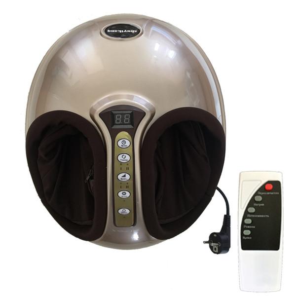 220 V Elektrische Antistress 3D Shiatsu Kneten Luftdruck Fußmassagegerät Infrarot Fußpflege Maschine Heizung Therapie EU stecker