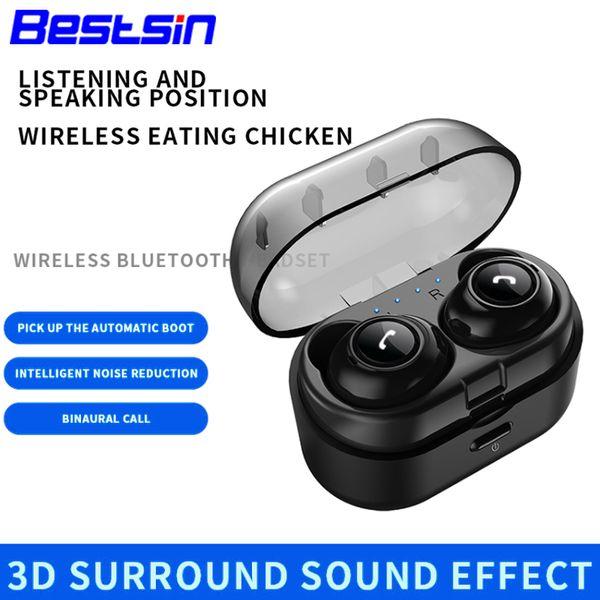 CP7 TWS Bluetooth Kopfhörer Sport Bluetooth 5.0 Mini Wireless Ohrhörer Stereo Headset Freisprecheinrichtung mit Mikrofon Bilateraler Anruf