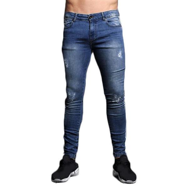 Slim Jeans Mode 2019 Fit Hose Elastische Herbst Hosen Lässig