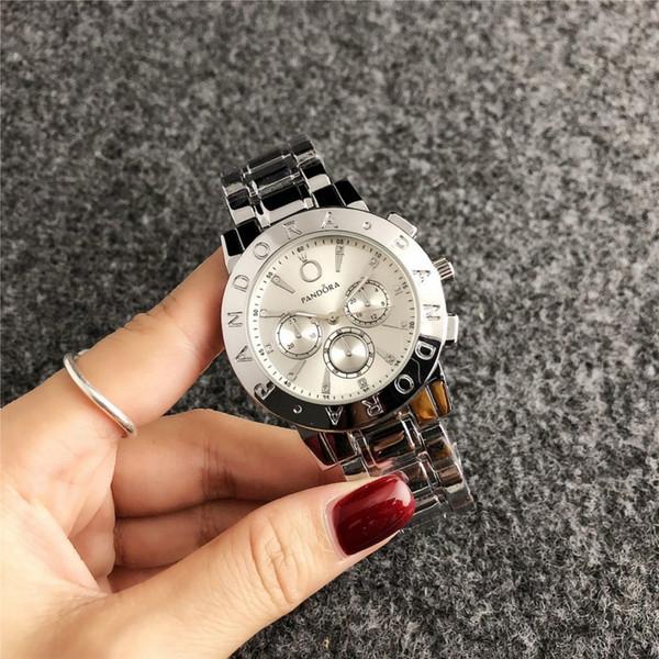 2020 nouvelle montre de luxe de la mode masculine et les femmes Pandora marque haut montre casual horloge montre à quartz de mode