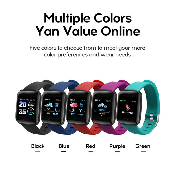 best selling Fitness Tracker ID116 PLUS Smart Bracelet with Heart Rate Smart Watchband Blood Pressure Wristband PK ID115 PLUS 116 PLUS F0 for Fitbit DHL