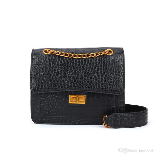 New Korean Version Of The Crocodile Pattern Pu Handbags Wild Mini Shoulder Bag Four Seasons Wild Temperament Small Square Bag Jooyoo
