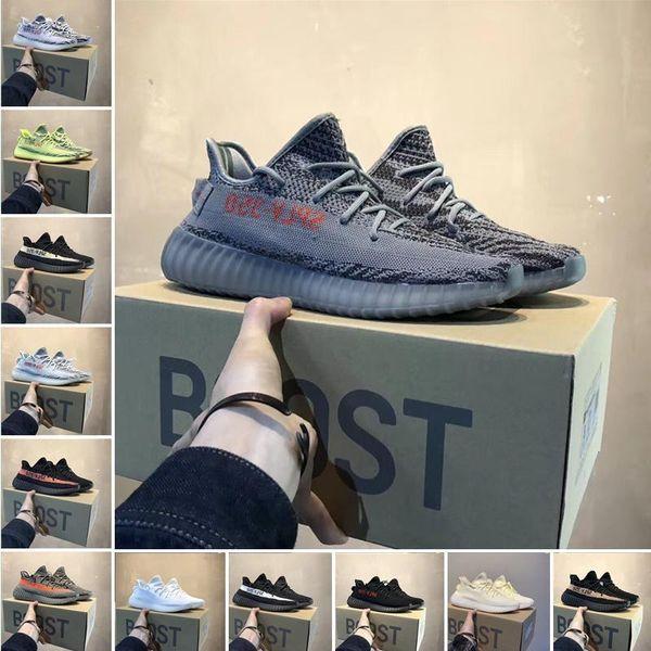 Kanye West 350 V2 Designers Shoes Static Black Cream White Sesame Luxury Mens Casual Shoes Beluga 2 .0 Womens Sports Shoes 25869