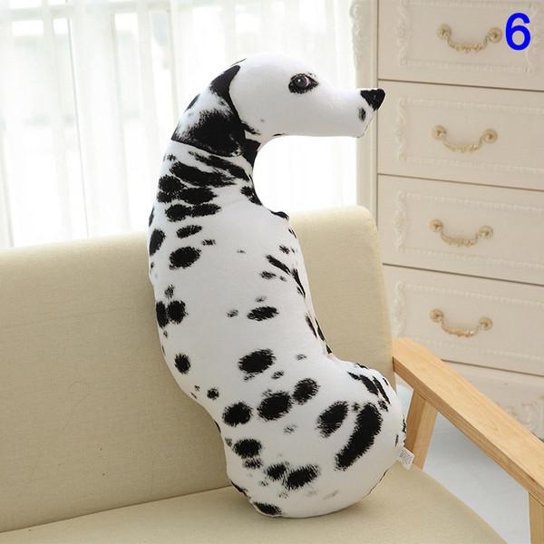 3d hunde drucken niedlichen tiere kissen plüsch puppe spielzeug kinder geschenk home sofa dekor fping