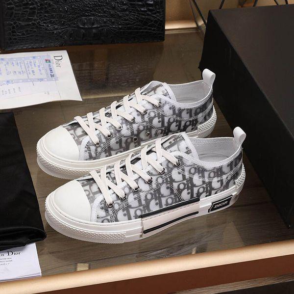 2019 Мужская Дизайнерская Роскошная Повседневная Обувь Ace Sneaker B23 Косой Цветы Кожа В