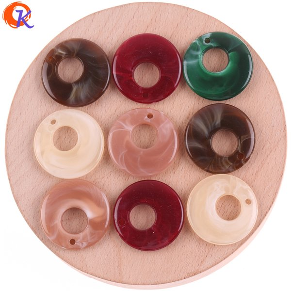 wholesale 25MM 100Pcs/Lot Acrylic Beads/Beads For Japanese Jewelry/Heart Bead/Hand Made/Marble Effect Bead/Earring Findings