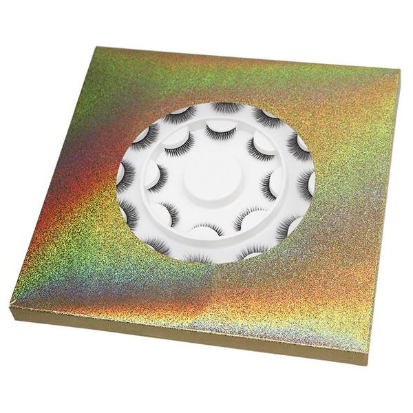 Sıcak satış 3D Yanlış kirpik Hediye Paketi 10 adet Set farklı stilleri Yumuşak Doğal Kalın Sentetik Saç Göz Makyaj Kirpik kiti Yüksek kalite