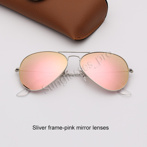 Şerit çerçeve-pembe ayna lensleri