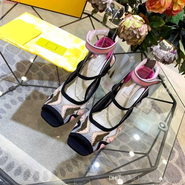 Women new High- Heel sandals,Breathable mesh embroidered sandals ,Street style fashion sandals,Size 35-41