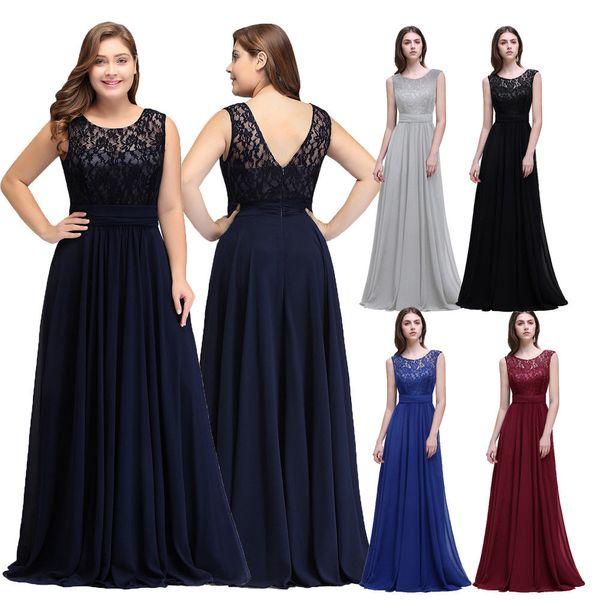 top popular 2019 Hot Sale Cheap Short Sleeve Lace Mother of Bride Groom Dresses Evening Bridesmaid Dress Robe de Soiree Longue Plus Size CPS522 2019