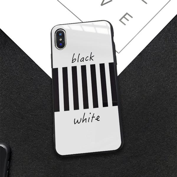 iPhone 11 Pro x XR x ler Max 7 8 artı lüks darbeye uygun yeni tasarım trendi şerit cam cep telefonu kabuk