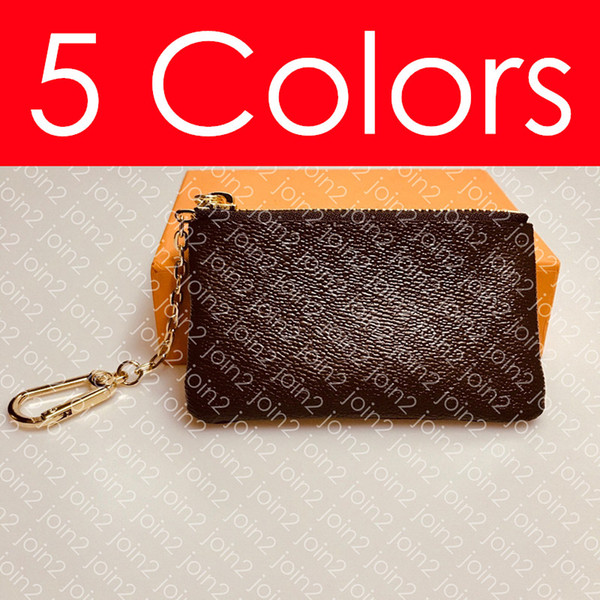 top popular KEY POUCH M62650 POCHETTE CLES Designer Fashion Womens Men Key Ring Credit Card Holder Coin Purse Mini Wallet Bag Charm Pochette Accessories 2021