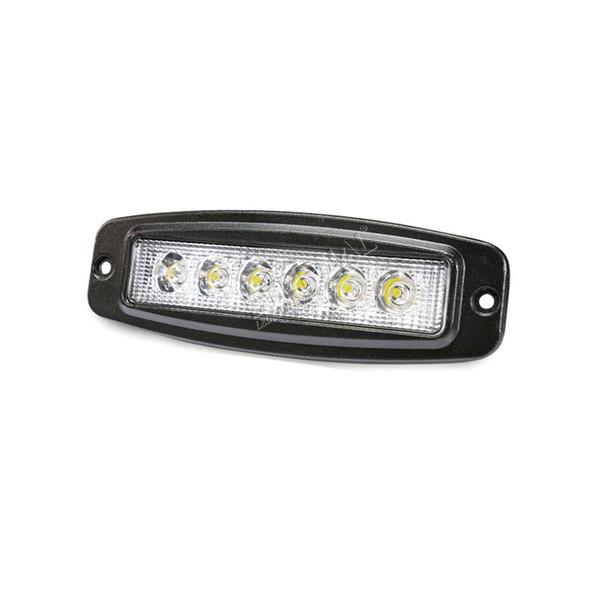 18w Led Work Light Bar Flush Mount For 4x4 Offroad Suv Truck Trailer Driving Headlamp Backup Parking Scean Lamp Led Portable Lighting Led Portable