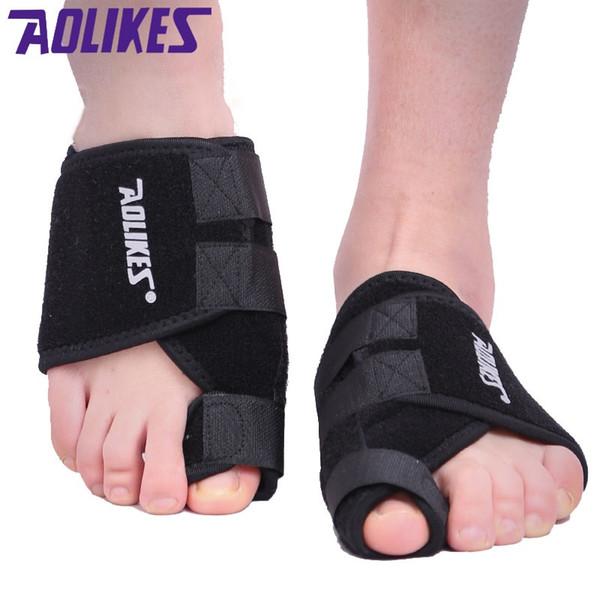 AOLIKES 1 STÜCKE Verstellbare Zehe Wrap Große Zehe Bunion Splint Corrector Glätteisen Hallux Valgus Fuß Schmerzlinderung Füße # 654883