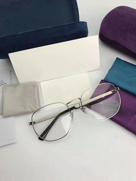 2018 muti-color stripe temple glasses vintage metal glasses irregular big-rim frame GG2287 57-18-140 younger prescription glasses