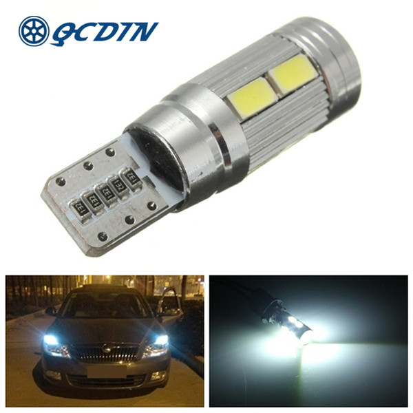 qcdin signal lamp 10pcs 5w 5630 smd led car bulbs white 6000k car license plate parking lights clearance light dc 9-16v - from $21.63