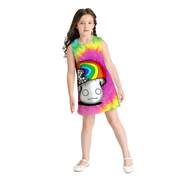 3cf38be4e699e 2019 2019 Baby Girl Summer Clothes Sleeveless 3D Mushroom Print Princess  Dress Girls Costumes Casual Little Girls Dresses La Robe From Laurul,  $46.42 ...