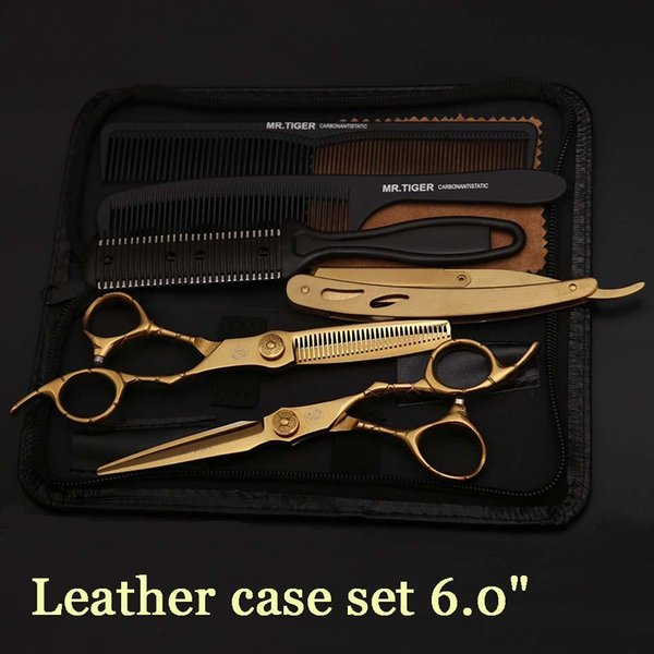 6.0 Scissors Kit with Comb & Razon