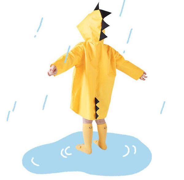 Hot Dinosaur Children Raincoats Child Girl Boy Kindergarten rainwear Poncho Cute Yellow Red dinosaur raincoat Free shipping