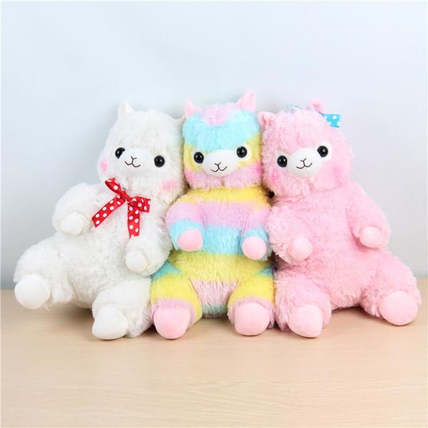 15 cm Kawaii Japaner Regenbogen Alpacasso Plüsch Schaf Spielzeug Weiche Plüsch Alpacasso Baby Plüsch Stofftiere Alpaka Geschenke für Kinder spielzeug