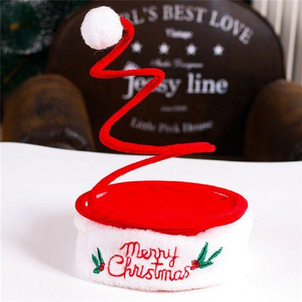 Decorazioni natalizie Bambini Adulti Cappello di Natale Primavera Cappello a cinque stelle Cappellino ricamato Produzione natalizia