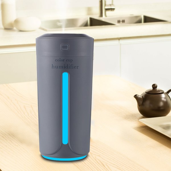 Ultrasonic Air Humidifier Essential Oil Diffuser With 7 Color Lights Electric Aromatherapy USB Humidifier Car Aroma Diffuser LED Night light