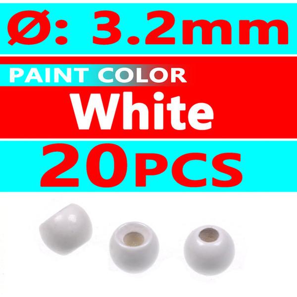 20pcs white 3.2mm
