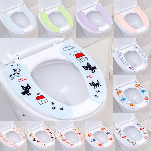 Toilet Seat Cover Soft Washable Toilet Seat Cover Mat Home Decor Closestool Mat Seat Case Toilet Lid Cover Accessories