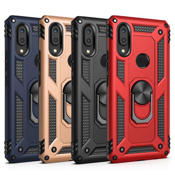 Para Samsung A10 A10E A20E A30 A20 A40 A50 A70 suporte de anel rotativo ímã suporte do telefone do carro tampa do suporte estojo de volta caso