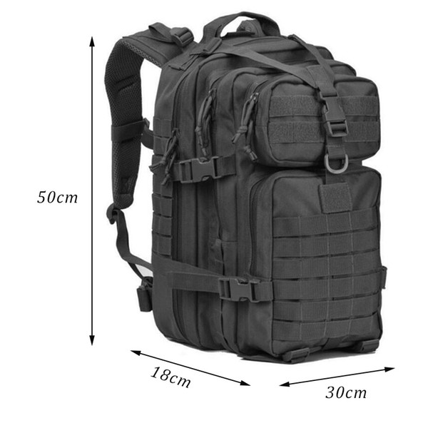 40L Military Tactical Backpack Large Army 3D Assault Pack Waterproof Molle Bug Out Bag Rucksacks Outdoor Hiking Camping Hunting #109059