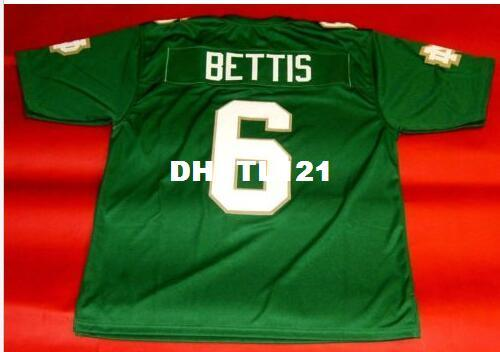 best selling Men Green Jersey #6 JEROME BETTIS College Jersey size s-4XL or custom any name or number jersey