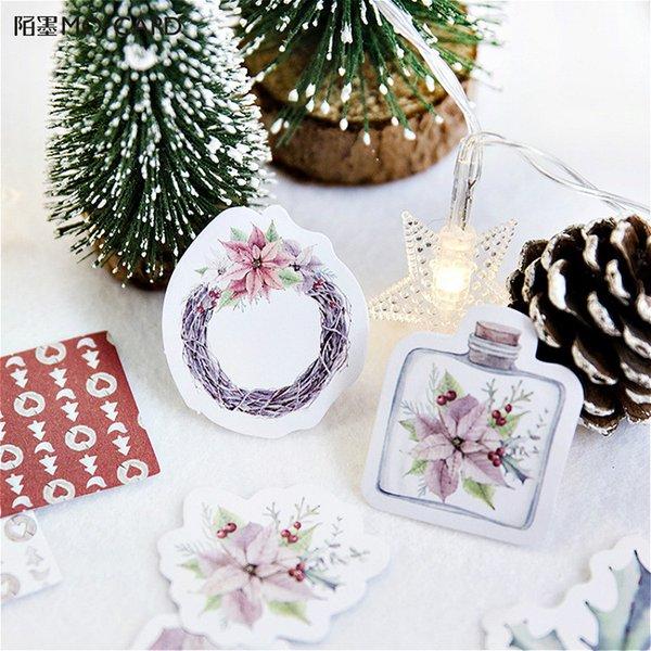 45Pcs/set kawaii Notebook fashion cute Christmas pattern Diary planner office decor school supplies stationery